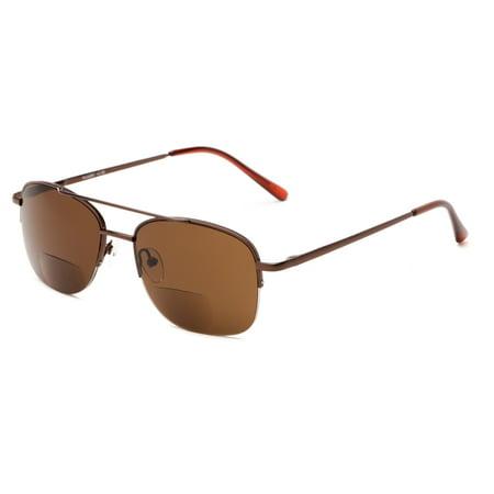 5b5372e58e2e Readers.com The Durham Bifocal Sun Reader Aviator Style Bifocal Sunglasses  - Walmart.com
