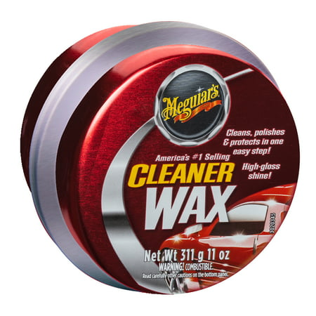 Meguiar's Cleaner Wax - Paste Wax Cleans, Shines and Protects in One Easy Step - A1214, 11 Oz, Paste