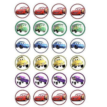 24 Disney Cars Cupcake Toppers (Disney Cars Cupcake Toppers)
