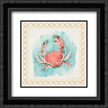 Coastal Mist Crab 2x Matted 20x20 Black Ornate Framed Art Print by DeNeige, Elyse