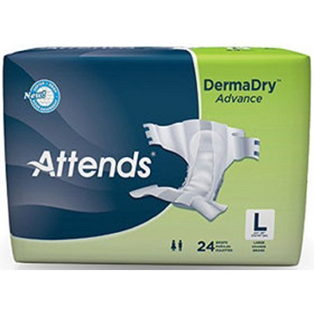Attends Dermadry Advance Briefs  Large  44 To 58 Inch Waist  Replacement For Attends Breathable Briefs Model Brb30 By Attends Healthcare