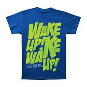 Close Your Eyes Men's  Wake Up T-shirt Blue