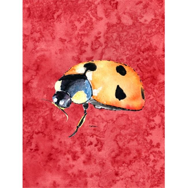 Carolines Treasures 8869CHF 28 x 40 In. Lady Bug On Red Flag Canvas, House Size - image 1 of 1