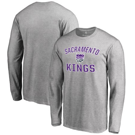 Sacramento Kings Victory Arch Long Sleeve T-Shirt - Ash - Sacramento Costume Shops