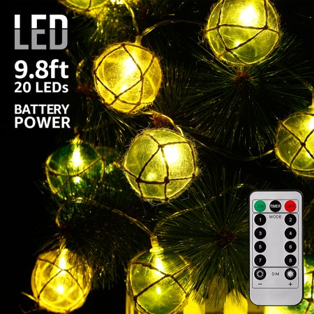 TORCHSTAR LED Global String Lights, Battery Powered Remote Control Lights, Timer Function, Copper Wire Decorative Lights, Multicolor for Party, Festival (Decorative Lights Halloween)