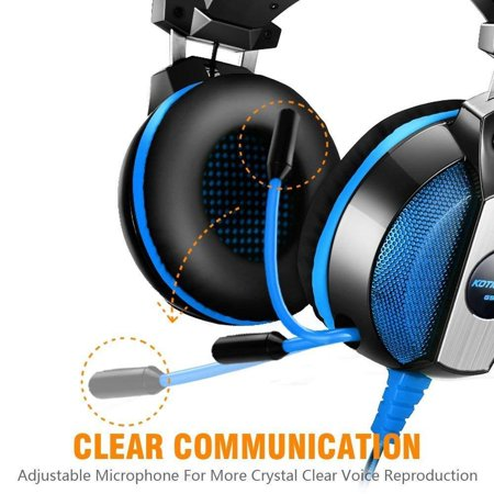 EACH GS500 Stereo Bass Surround Gaming Headsets for PS4 New Xbox One PC with Mic - image 7 de 8