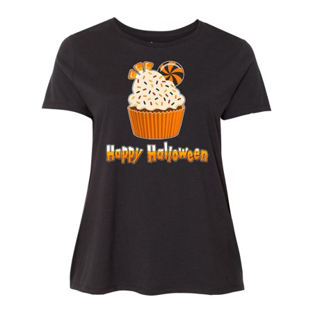 Candy Corn Halloween Cupcakes (Happy Halloween- cute candy corn cupcake Women's Plus Size)