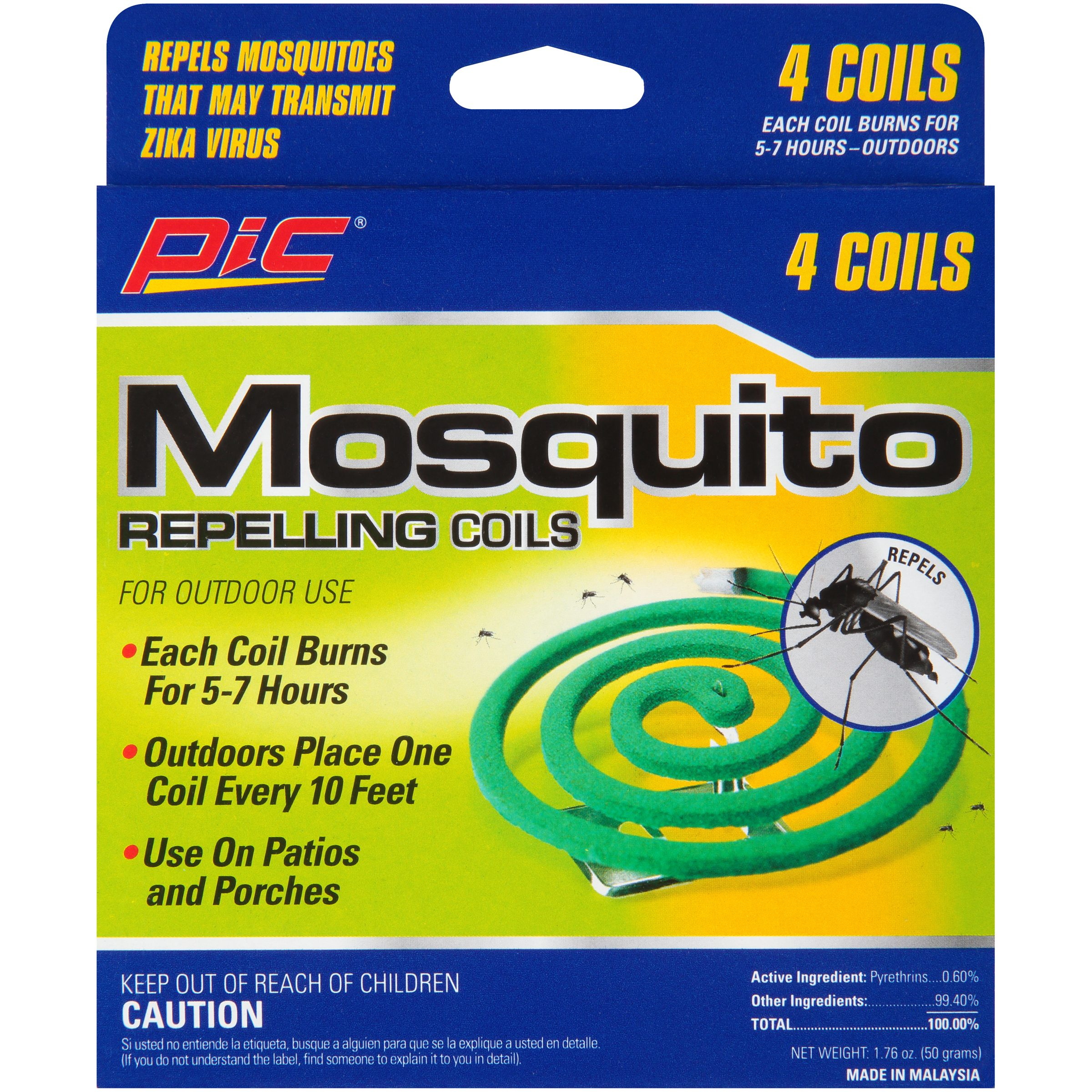 PIC® Mosquito Repelling Coils 4 ct Box