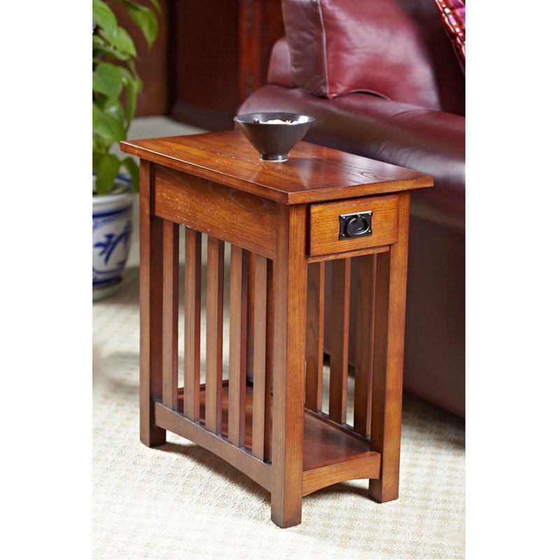leick solid ash mission chairside end table