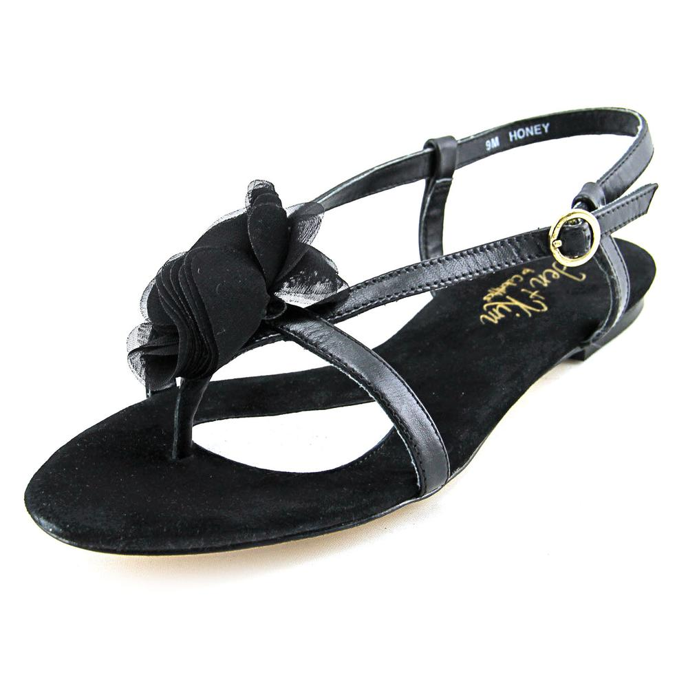 Jen + Kim for Coloriffics Honey Open-Toe Leather Slingback Sandal by Jen   Kim for Coloriffics