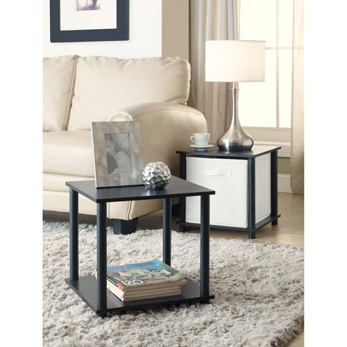 Mainstays No Tools Single Cube Storage Shelf Side Tables, Set of 2