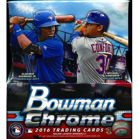 2016 Bowman Chrome Collectors Baseball Cards Hobby Box 12 Packs