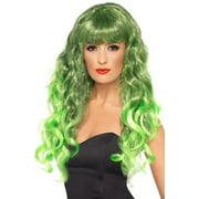 Siren Adult Costume Long Green & Black Wig