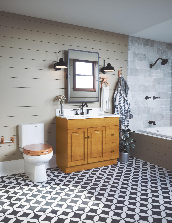 Design House 561191 Dalton Towel Ring Honey Oak Finish