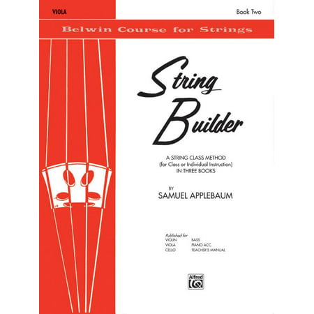 Builder Soft Toy - Belwin Course for Strings: String Builder, Bk 2: A String Class Method (for Class or Individual Instruction) - Viola (Paperback)