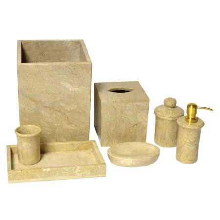 Rembrandt Home 7 Piece Golden Wheat Marble Bath Set