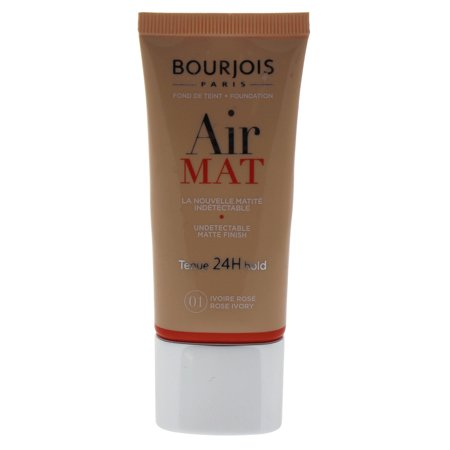 Air Mat Undetectable Matte Finish 24H Foundation - # 01 Rose Ivory by Bourjois for Women - 1 oz