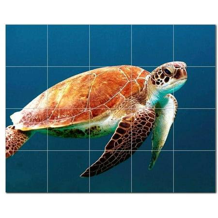 Turtle Ceramic Tile Mural Kitchen Backsplash Bathroom Shower 402984 M5