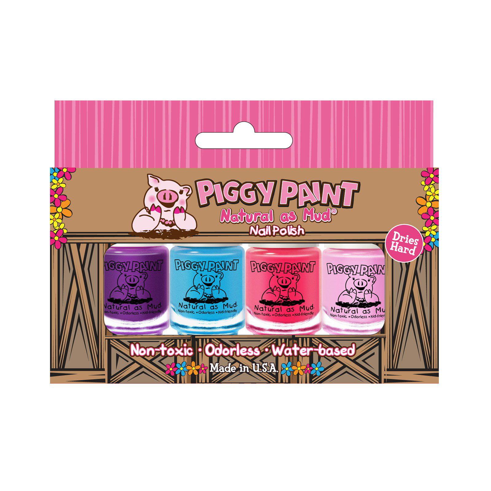 Piggy Paint, Natural as Mud, Nail Polish, 4 Piece Set (3.5 ml) Each(pack of 1)