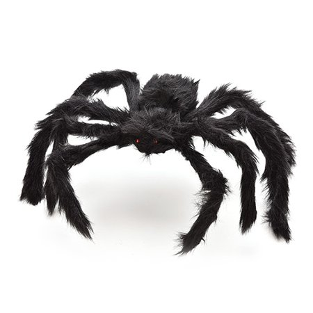 Girl12Queen 1Pc Fashion Handmade Plush Spider Toy for Halloween Decor Costume Party Prop