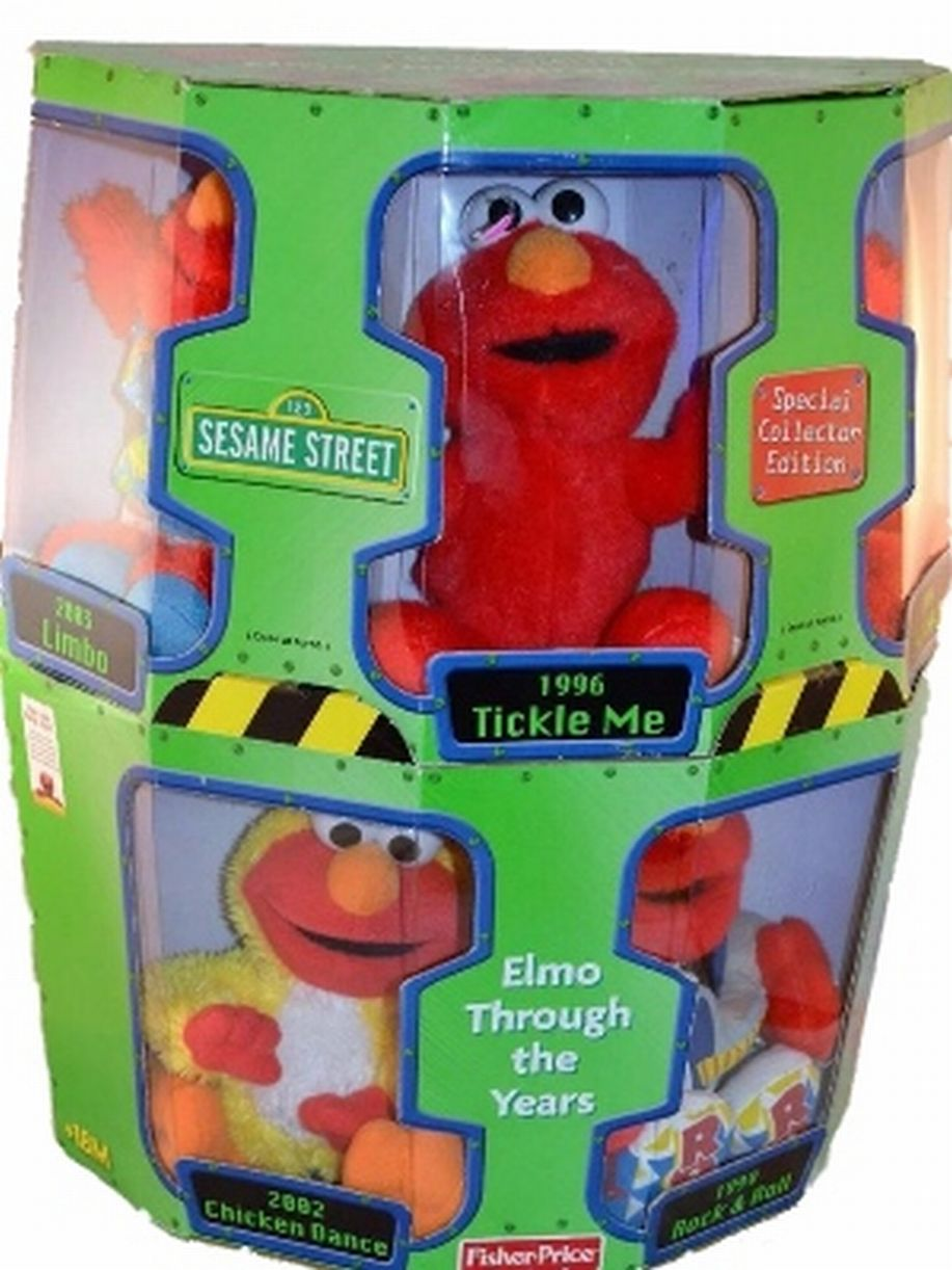 """Elmo Through the Years Plush Collection With Five 7"""" Elmos by Fisher-Price"""