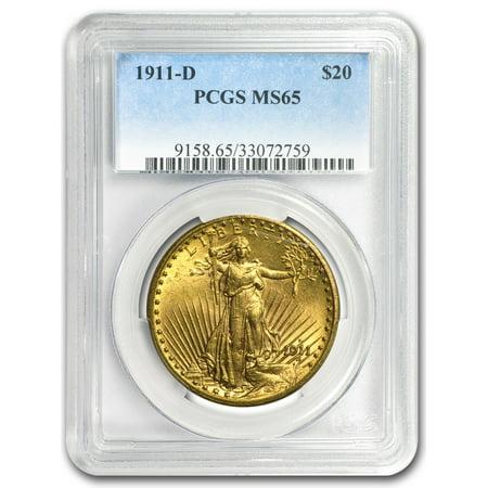 Ms65 Gold Coin - 1911-D $20 Saint-Gaudens Gold Double Eagle MS-65 PCGS