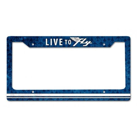 12 x 6 in. Live To Fly License Plate Frame Sign - image 1 de 1