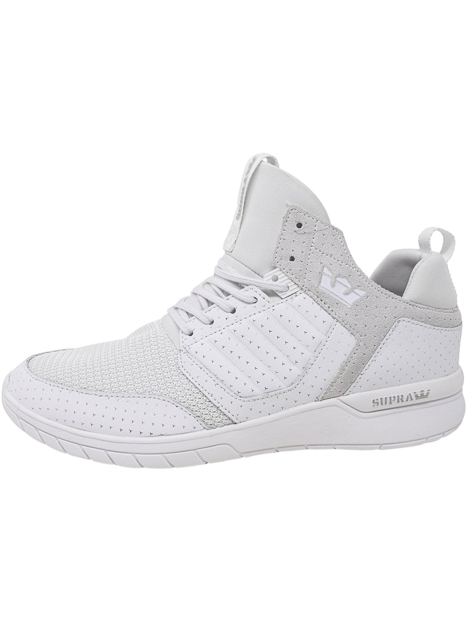 Supra Men's Method White / Ankle-High Leather Skateboarding Shoe - 10M