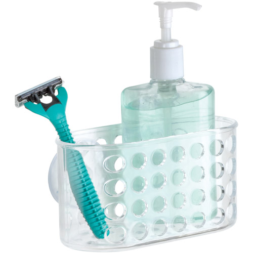 Bath Bliss Clear Suction Bathroom Organizer