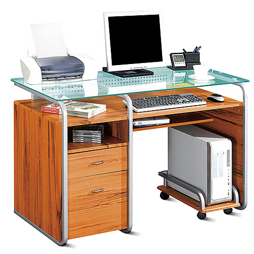 US store free delivery Computer Desk Workstation With Pull Out Keyboard Tray