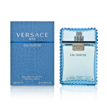 Versace Man Eau Fraiche Cologne for Men, 3.4 (Versace Medusa Gold)