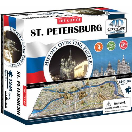 4D Cityscape St. Petersburg History Time Puzzle, 1,245+ Pieces