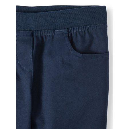 Wonder Nation Girls 4-16 School Uniform Stretch Twill Pull-On Pants