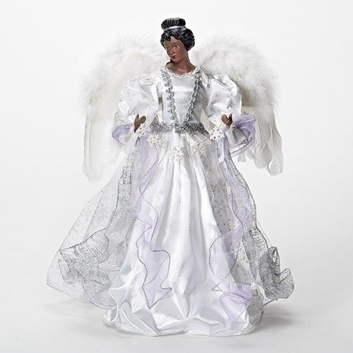 ROMAN INC. African American Angel CHRISTMAS TREE TOPPER, ...