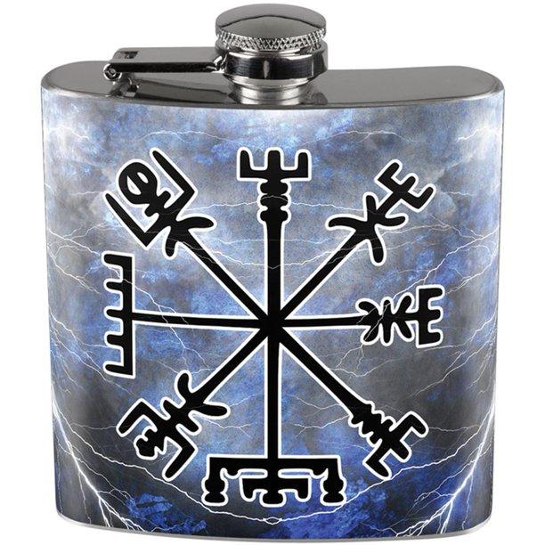Viking Vegvisir Storm Compass Full Wrap Steel Flask Walmart Com Walmart Com
