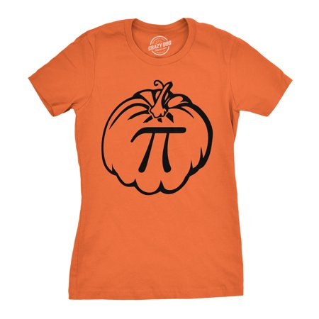 Women's Pumpkin Pi T Shirt Math Shirt Pie Thanksgiving Tee for Women ()