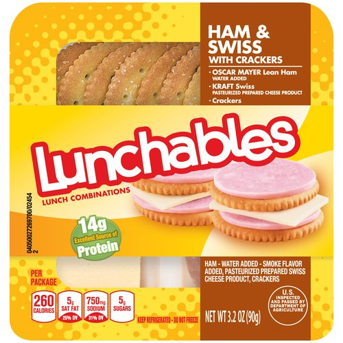 Lunchables Ham & Swiss with Crackers, 3.2 oz
