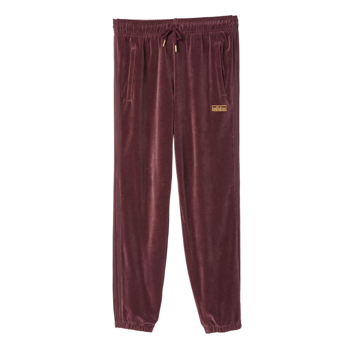 Adidas Originals Velour Men's Sweat Pants Maroon  ay9231