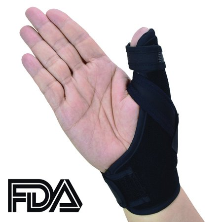 Thumb Splint (Thumb Spica Splint- Thumb Brace for Arthritis or Soft Tissue Injuries, FDA Approved, Lightweight and Breathable, Stabilizing and not Restrictive, a U.S. Solid Product )