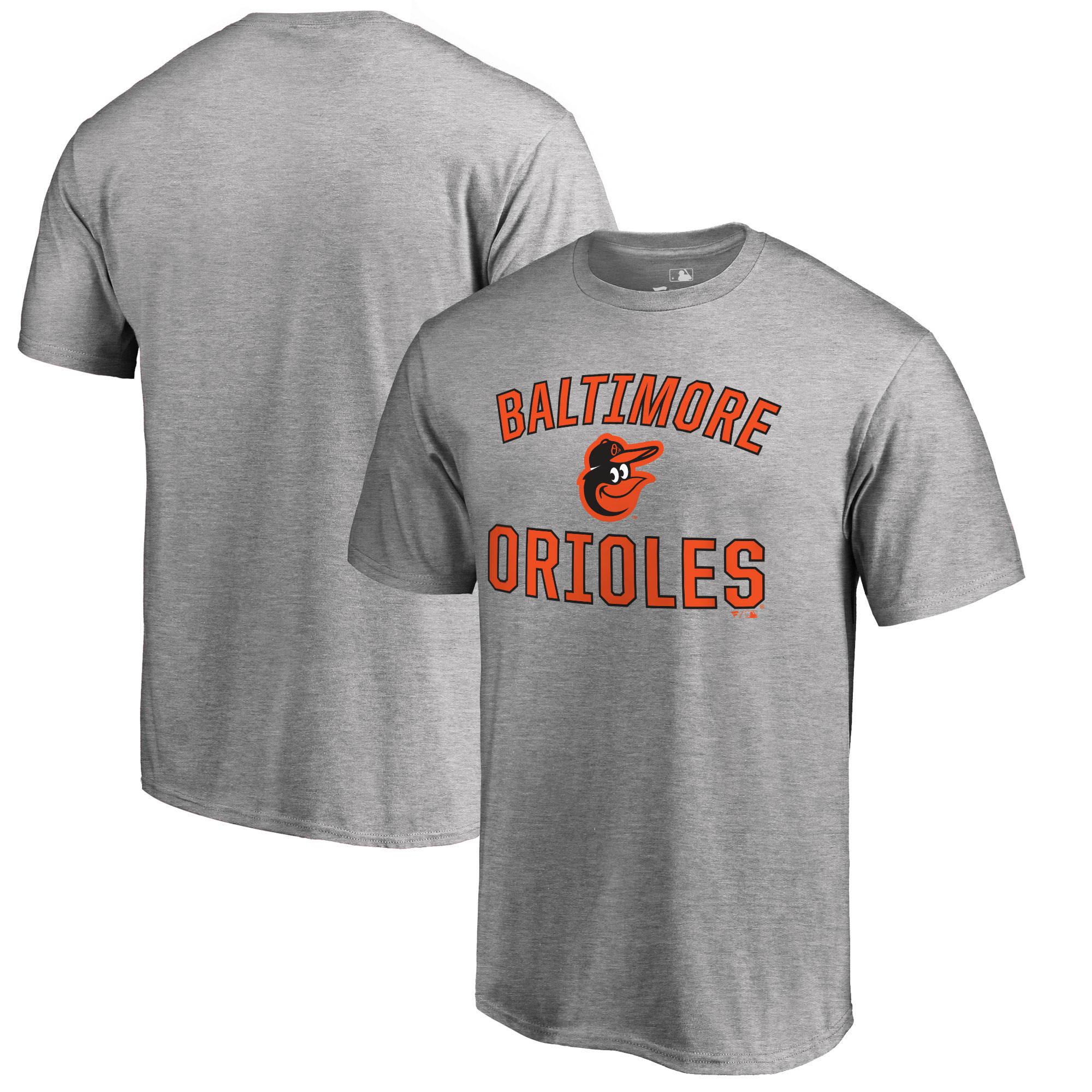 Baltimore Orioles Fanatics Branded Victory Arch T-Shirt - Heathered Gray