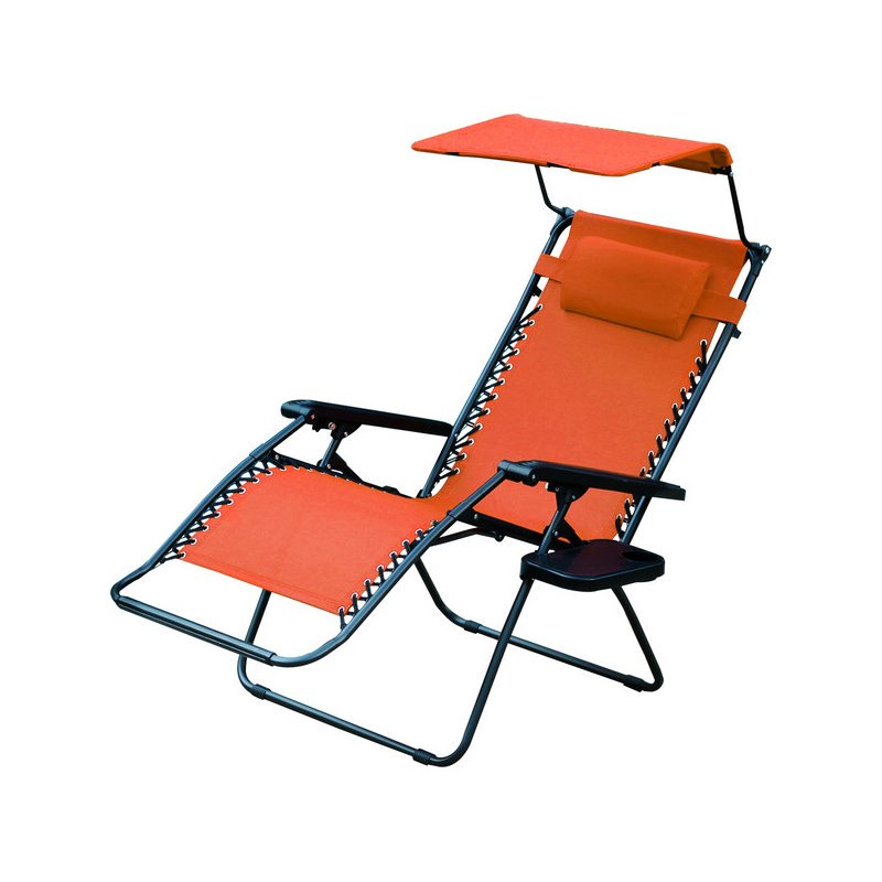 Jeco Oversized Zero Gravity Chair with Sunshade and Drink Tray in Pacific Blue