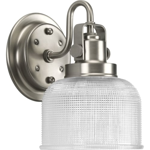 "Progress Lighting P2989 Archie 1 Light Bathroom Wall Sconce with Prismatic Shade - 8"" Tall"