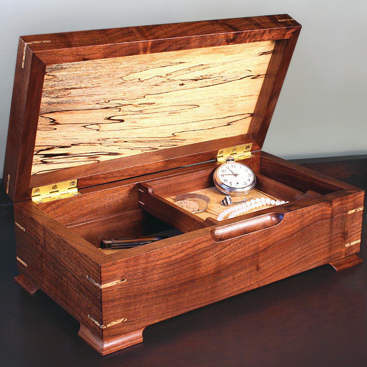 Woodworking Project Paper Plan To Build Keepsake Jewelry Box Plan Only Walmart Com Walmart Com