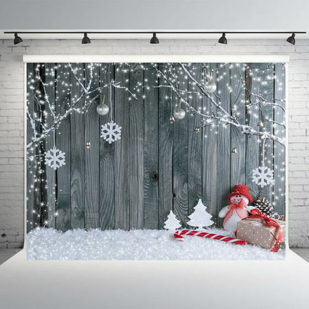 GreenDecor Polyster 7x5ft Christmas Photography Backdrop Wood Wall Photo Studio Background Props Bokeh Winter Theme Backdrops for Photography](Christmas Props Photography)