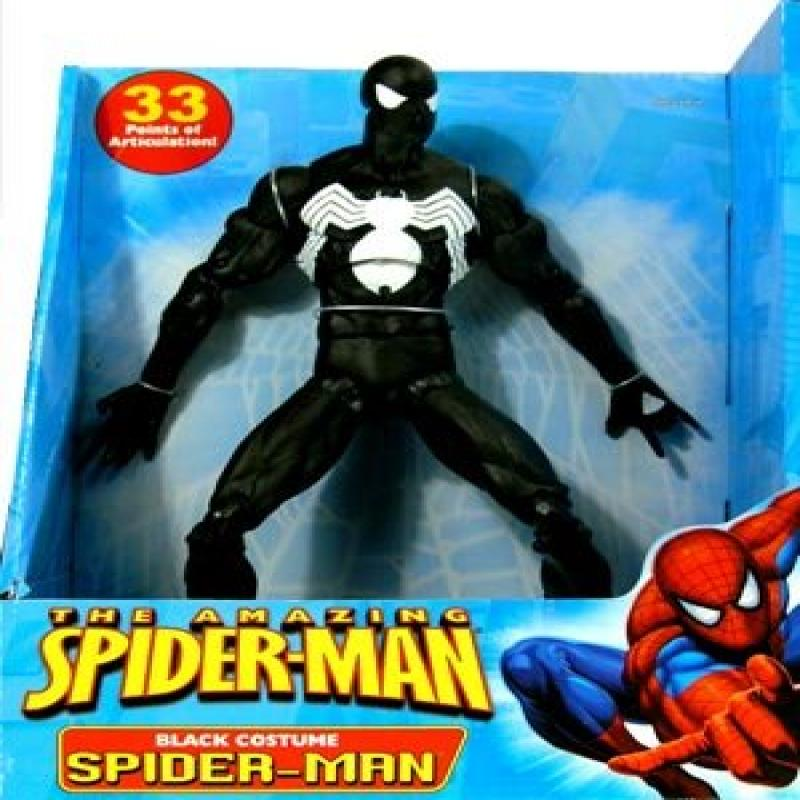 Amazing Spider-Man 12 Inch Deluxe Action Figure Black Costume Spider-Man by