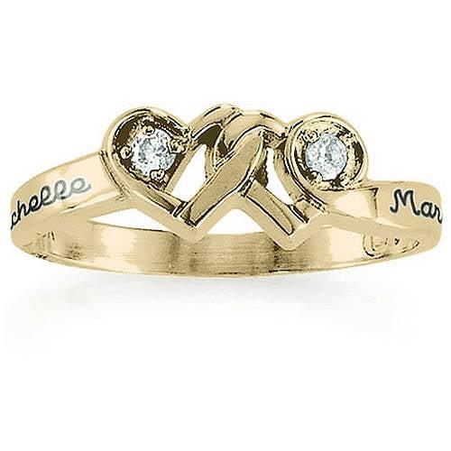 Keepsake Personalized Loving Promise Ring with Diamonds