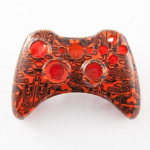 Orange Circuit Board Custom Controller Shell for Xbox 360