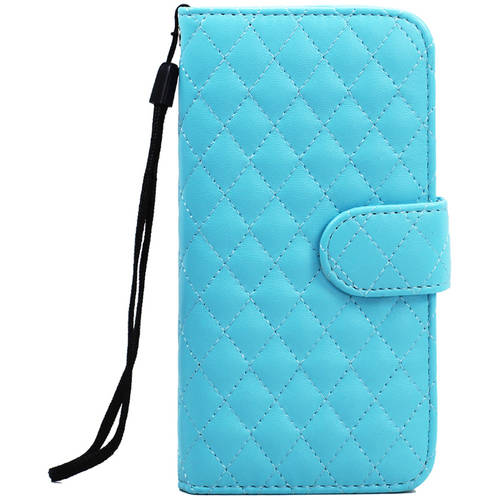 KIKO Wireless Quilted Flip PU Leather Wallet Case with Strap for Apple iPhone 6 Plus, 5.5""