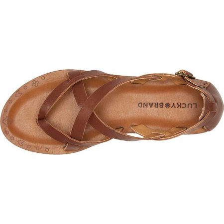 1edf18fb789221 Lucky Brand - Women s Lucky Brand Ainsley Strappy Thong Sandal - Walmart.com