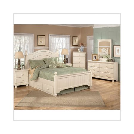 Ashley furniture cottage retreat poster bedroom set in cream cottage Cottage retreat bedroom set